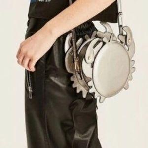 Zara Metallic Silver Crab Shape Purse NWT